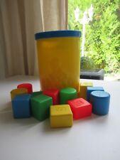 ♥ Ancien Jouet Boite A Cube Fisher Price Vintage Réf: 1024 Année 1977 12 Cubes