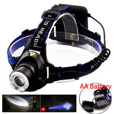 AA Battery head frontal flashlight led T6 Torch Outdoor Headlamp For Hunting