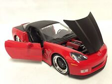 "2006 Chevrolet Corvette Z06, Collectible, 8"" Diecast 1:24 Scale, Jada Toys, Red"
