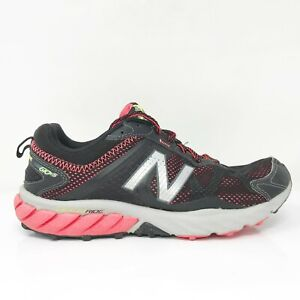 New Balance Womens 610 V5 WT610LB5 Black Running Shoes Lace Up Low Top Size 8 D