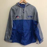 North Melbourne Kangaroos AFL Vintage 1/4 Zip Hooded Spray Jacket Mens Medium