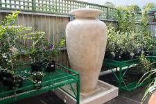 GRC Outdoor Garden Patio Water Feature Carolina Fountain Medium Urn Sandstone