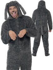 NWT Smiffy's  Adult Large Fluffy Dog Costume Hooded All-in-One Halloween