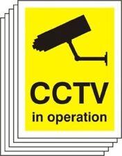 PACK OF 5 CCTV IN OPERATION SIGN RIGID PLASTIC 200x150mm WARNING SUREILLANCE