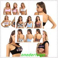 Sexy Women V Neck Tank Top Sleeveless Cami Crop Top Vest T-shirt Casual Blouse