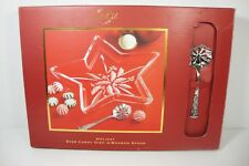 Lenox Holiday Star Crystal Candy Dish Bonbon Spoon Gift Boxed