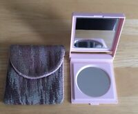 Vintage 1980's Mary Kay Pink Dual Folding Mirror Compact w/ fabric case