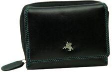 Visconti SP25 Soft Leather Black Multi Ladies Tri-fold Wallet Purse Card Holder