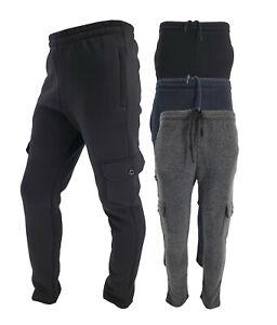 Mens Slim Fit Cargo Combat Jogging Bottoms Trousers Elasticated Tracksuit Jogger