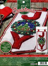 Bucilla Season Of Joy ~ Felt Christmas Wall Hanging Kit #86741, Real LED Lights