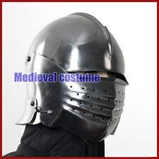 16G Steel Italian Sallet Medieval Functional Sparring Helmet WMA SCA LARP RF88