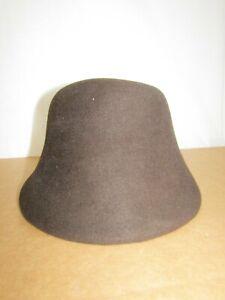 Emporio Armani Brown Fur Felt Velour Bucket Hat