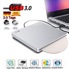 USB 3.0 Extern Slim Laufwerk CD-RW DVD Brenner mit Typ-C für pcLaptop Notebook