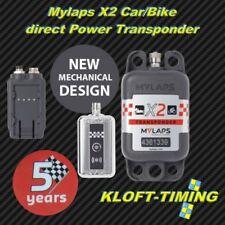 Mylaps X2 Car/Bike Transponder inkl. 5 Jahre Funktion direkt power inkl. Zub.NEU