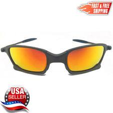 Squared X-Metal Sunglasses Polarized Fire Iridium Metal Frames for Oakley Lenses
