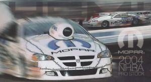 2004 Team Mopar Dodge Stratus Pro Stock NHRA Hero Card ALDERMAN JOHNSON MORGAN