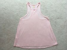 WOMENS LUCY ACTIVEWEAR SUBTLE STRIPED PINK RACERBACK TANK M NWOT SUPER-CUTE!