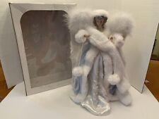 """Roman 16"""" Lace Angel Tree Topper Fancy Lacy Blue Porcelain Head/Hands B1"""