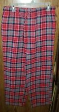 Croft & Barrows Red Plaid Pajama Bottoms. Size Medium