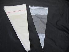 250 Stück PP - Spitztüten Spitzbeutel  18 x 37 cm, weißes Dekor Neu ohne Clipse