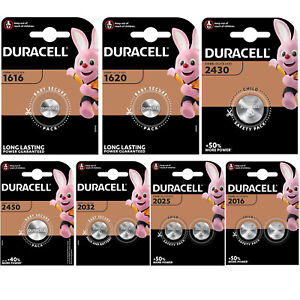 DURACELL Lithium COIN CELL Batteries DL CR 1616 1620 2016 2025 2032 2430 2450