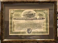 International Mercantile Marine Stock Certificate To William Salomon & Co Framed