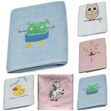 Harwoods Kids Childrens Childs Embroidered Face Cloth, 100% Cotton, 8 designs