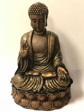 buddha statue large - ANTIQUE BRASS PROTECTION BUDDHA STATUE/ OVERCOMING FEAR