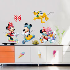 Disney Mickey Minnie Mouse Scooter Wall Stickers kids Room Art Wall Decals Decor