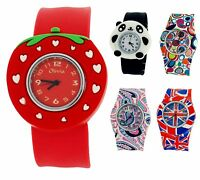 The Olivia Collection Kids Silicone Slap On Watches xmas Gift For Girls Boys