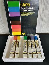 Vintage Lot of 6 Sanford Expo Dry Erase Marker Chisel Tip