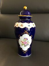 RARE PRE-OWNED Large Lid Vase Echt Cobalt Wallendorf W 1764 Porcelain ORIGINAL