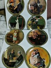 """Norman Rockwell Collector Plates """"Rockwell's American Dream"""" Lot of 8 Limited Ed"""