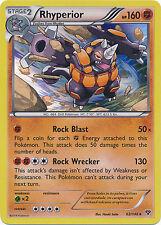 Pokemon XY Rhyperior 62/146 Holo Rare Card
