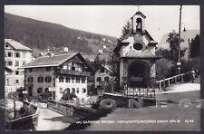 BOLZANO BOZEN ORTISEI 30 ST. ULRICH - MONUMENTO ai CADUTI Cartolina FOTOGR viagg