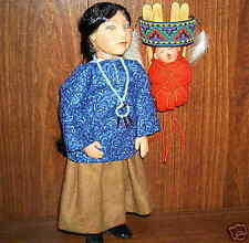 Ooak Navajo Mother and Child Dolls