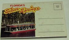 Florida's **Silver Springs**  --  glass bottom boats 12 attached scenes  70's