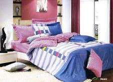 Twin 4 Piece Duvet Cover Set 100% Cotton Trendy Kids Bedding LE455T