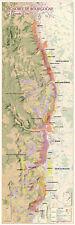 Carte du Vignoble de Bourgogne - La Grande Côte - POSTER