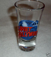 1990 Planet Hollywood Fluted Shot Glass -Phoenix, Arizona-