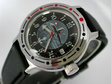 VOSTOK RUSSIAN AMPHIBIAN    AUTO MILITARY DIVER WATCH #42831f NEW