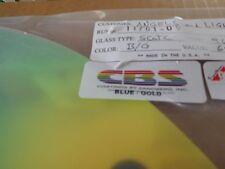 """Dichroic Glass:CBS 96 COE - Blue/Gold on Thin Flat Clear- 3""""Sq"""