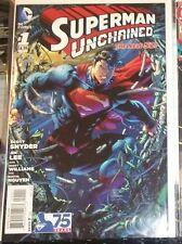 SUPERMAN UNCHAINED #1 75TH ANN VARIANT RARE VERY HI GRADE B&B WOW