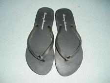Tommy Bahama Whykiki Shell Flip Flops Sandals Misses Size 8 Black