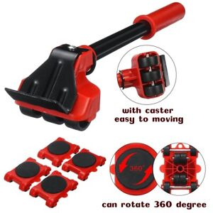 Heavy Duty Furniture Tool Lifter Transport Furniture Mover set 4 Move Roller New
