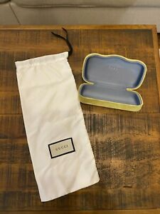 Gucci Chartreuse Glasses Case with Dust Bag Authentic