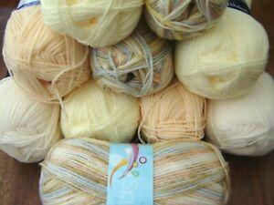 Baby DK Knitting yarns king cole splash drifter etc all pastel colours 10 x 100g
