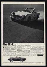 1962 TRIUMPH TR-4 British Convertible Sports Car - Race Car - VINTAGE AD