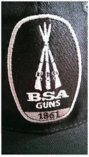 BSA Guns Air Rifle Black Baseball Cap Hat,100% cotton, mesh back, 177, 22 airgun