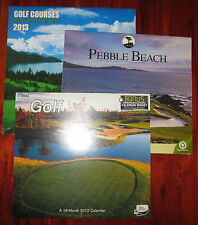 LOT of 3 Golf Calendars